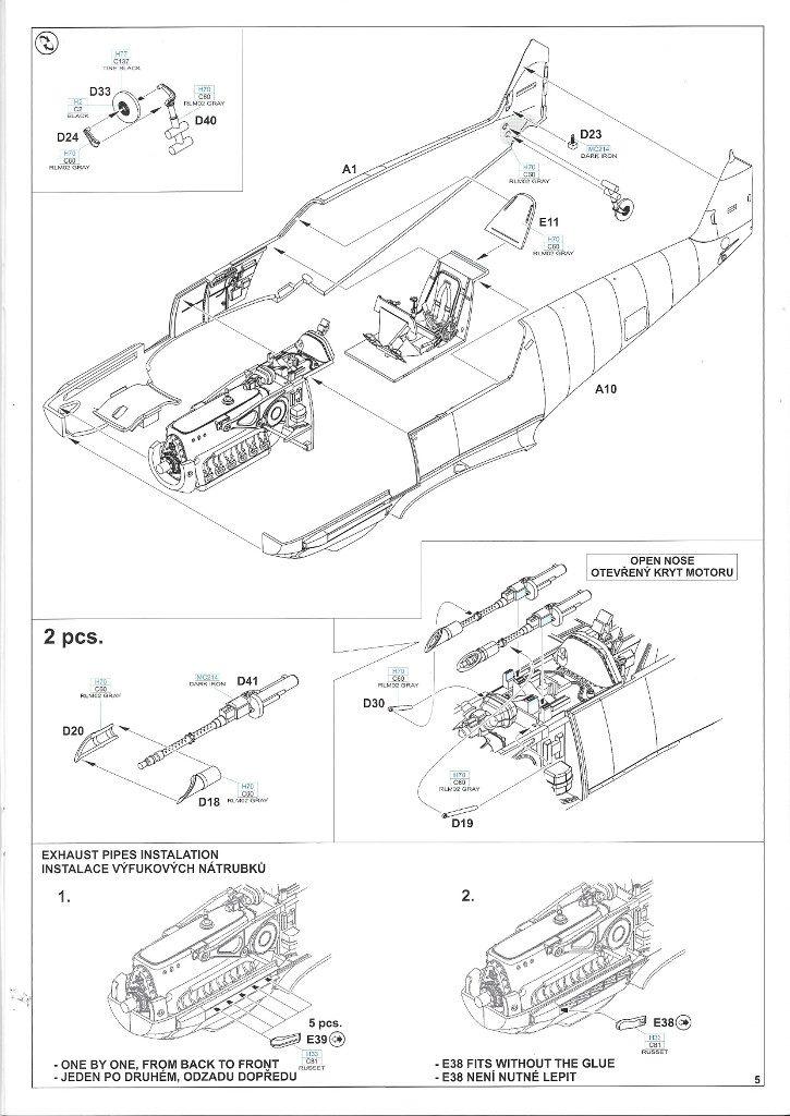 Anleitung05-2-725x1024 Bf 109 E-3 1:48 Eduard ProfiPACK (#8262)