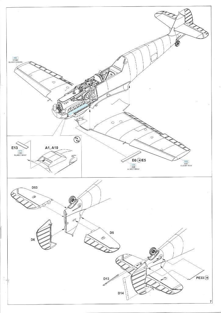 Anleitung07-2-725x1024 Bf 109 E-3 1:48 Eduard ProfiPACK (#8262)