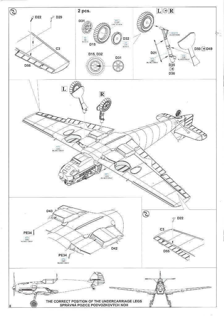Anleitung08-2-725x1024 Bf 109 E-3 1:48 Eduard ProfiPACK (#8262)