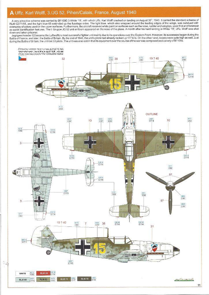 Anleitung11-1-725x1024 Bf 109 E-3 1:48 Eduard ProfiPACK (#8262)