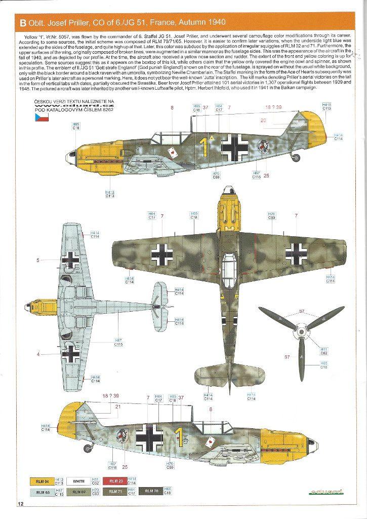 Anleitung12-725x1024 Bf 109 E-3 1:48 Eduard ProfiPACK (#8262)