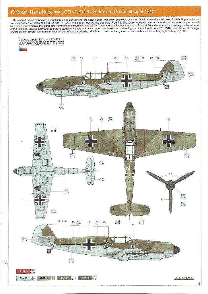 Anleitung13-725x1024 Bf 109 E-3 1:48 Eduard ProfiPACK (#8262)