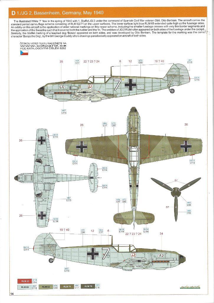 Anleitung14-725x1024 Bf 109 E-3 1:48 Eduard ProfiPACK (#8262)