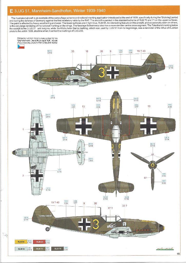 Anleitung15-725x1024 Bf 109 E-3 1:48 Eduard ProfiPACK (#8262)