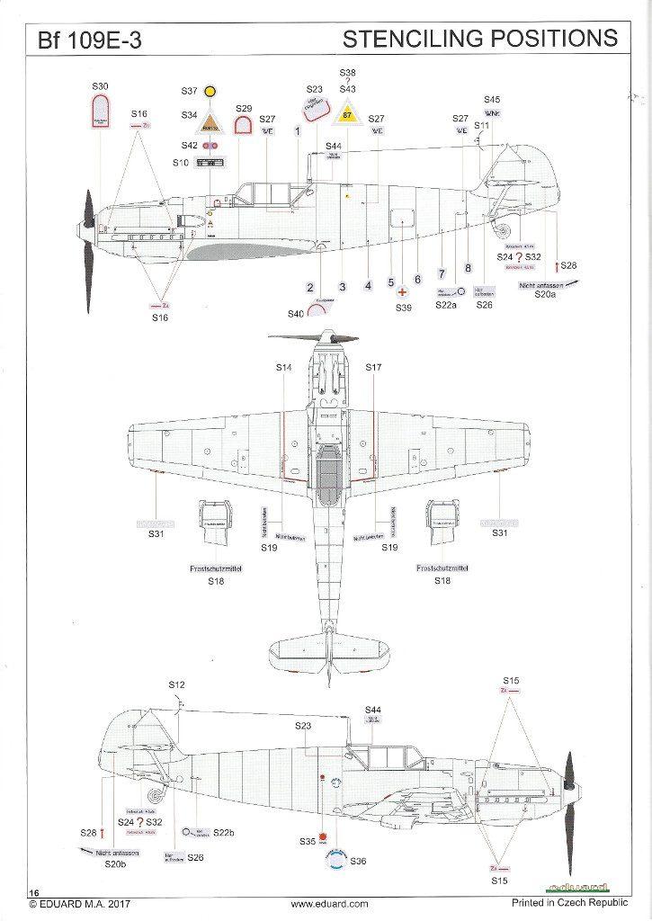 Anleitung16-725x1024 Bf 109 E-3 1:48 Eduard ProfiPACK (#8262)