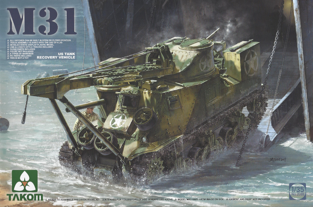 Boxart-1024-1 M31 U.S. Tank Recovery Vehicle 1:35 Takom #2088