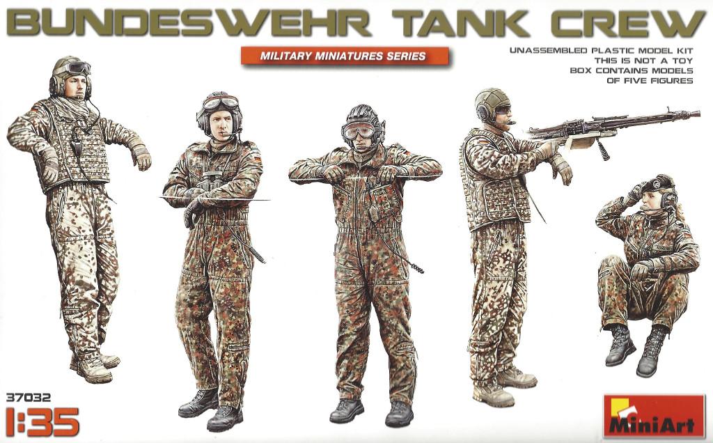 Boxart Bundeswehr Tank Crew 1:35 Miniart #37032