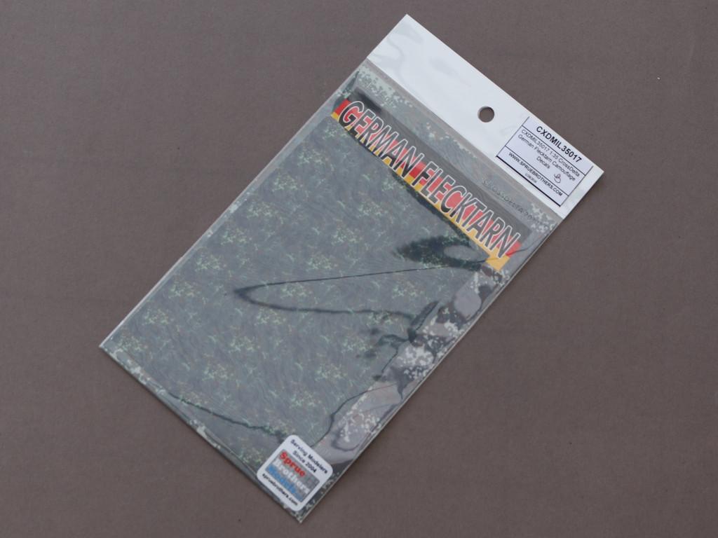 Decals-box German Flecktarn Camouflage Decals 1:35 CrossDelta  #MIL35017