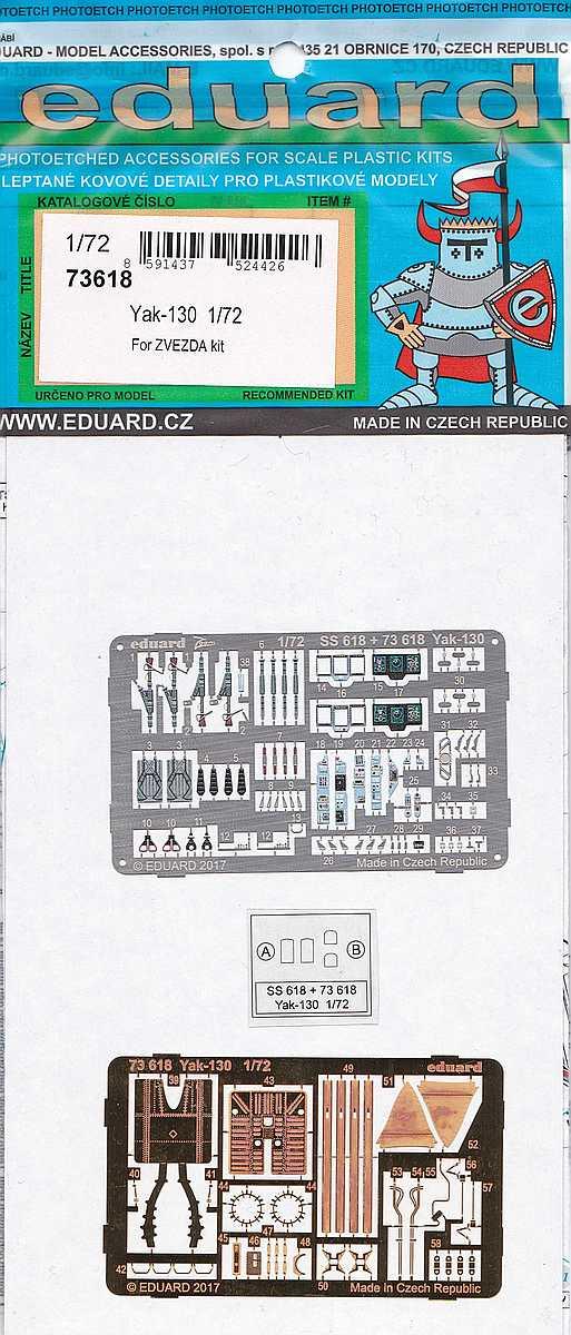 Eduard-73618-Yak-130-1 Eduard Zubehörsets für die Yak-130 von Zvezda in 1:72