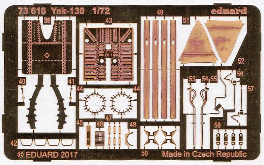Eduard-73618-Yak-130-2 Eduard Zubehörsets für die Yak-130 von Zvezda in 1:72