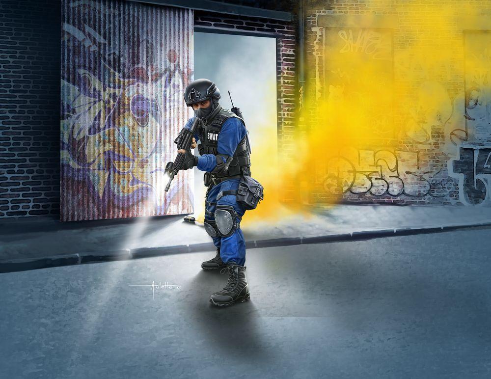 Revell-02805-SWAT-Officer Revell Neuheiten 2018