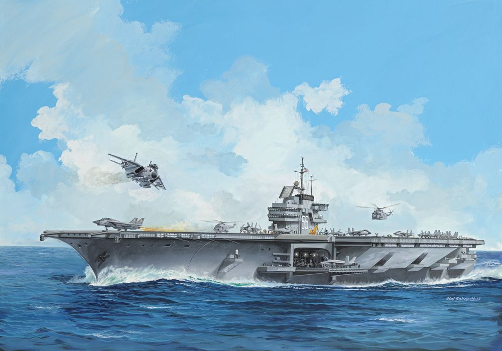 Revell-05156-Aircraft-Carrier-USS-FORRESTAL Revell Neuheiten 2018