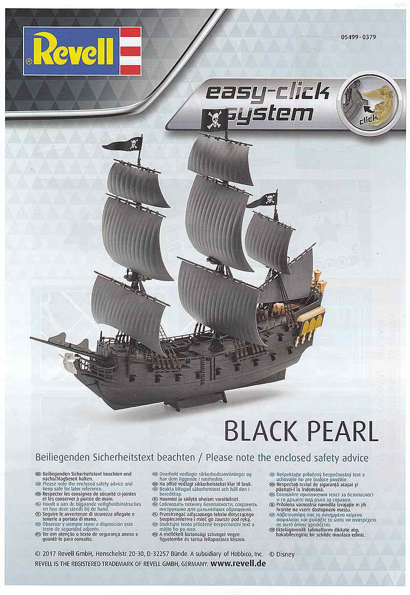 Revell-05499-Black-Pearl-Easy-Click-System-48 Black Pearl Easy Click System in 1:150 von Revell 05499