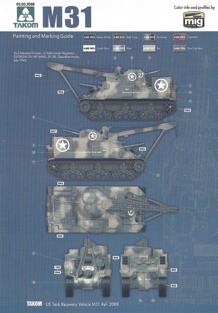 Variante2-1024 M31 U.S. Tank Recovery Vehicle 1:35 Takom #2088