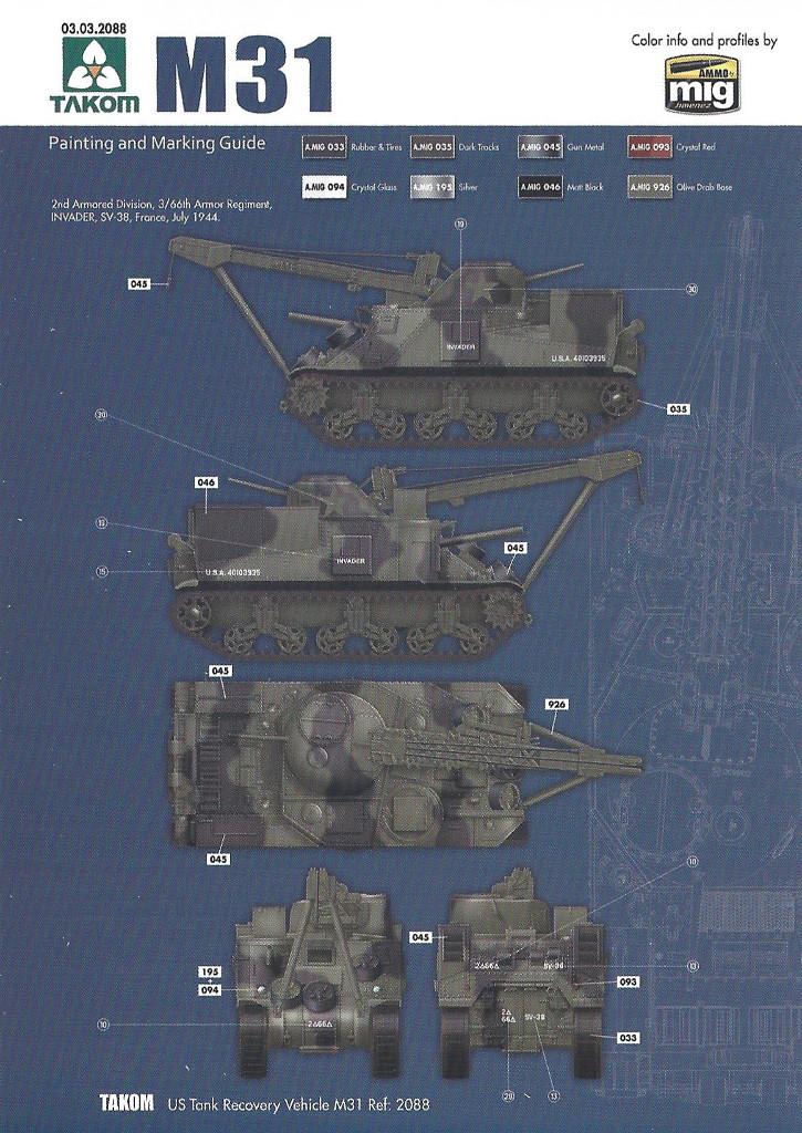 Variante3-1024 M31 U.S. Tank Recovery Vehicle 1:35 Takom #2088