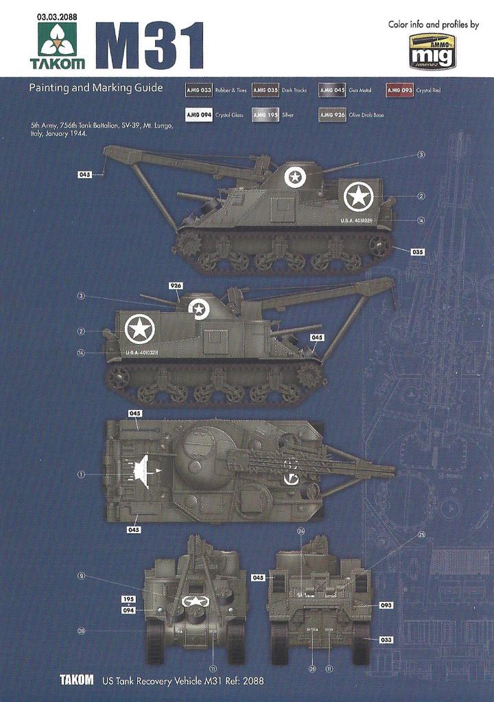 Variante4-1024 M31 U.S. Tank Recovery Vehicle 1:35 Takom #2088