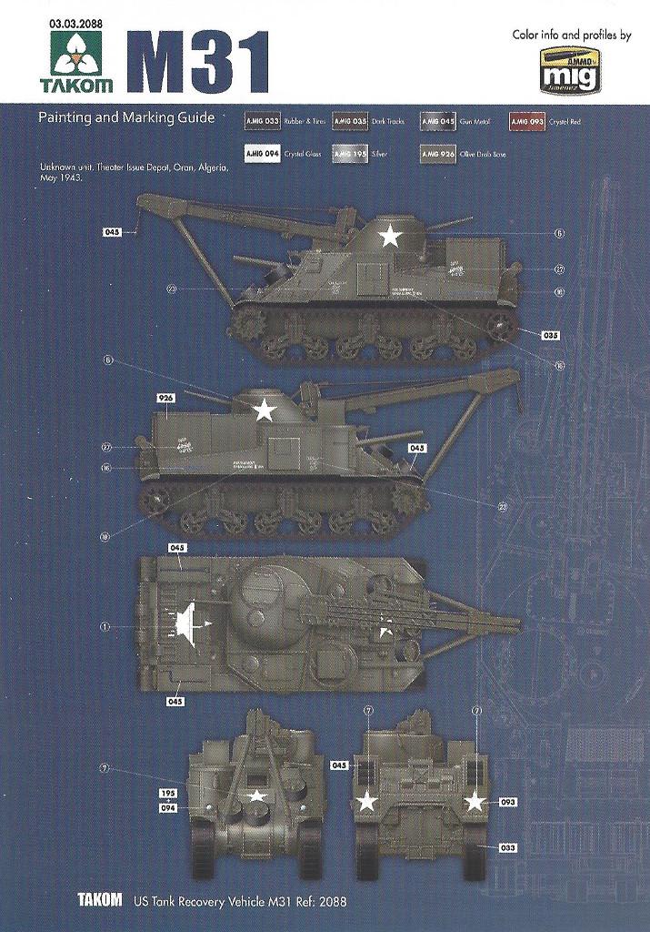 Variante5-1024 M31 U.S. Tank Recovery Vehicle 1:35 Takom #2088