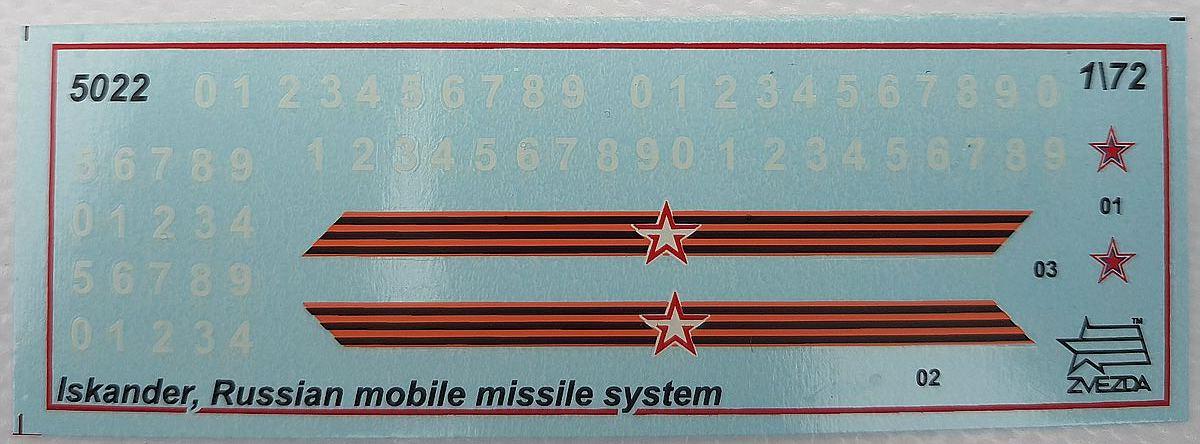 "Zvezda-5028-Iskander-M-15 Sowjetisches Raketensystem SS-26 ""Stone"" Iskander-M von Zvezda 5028"