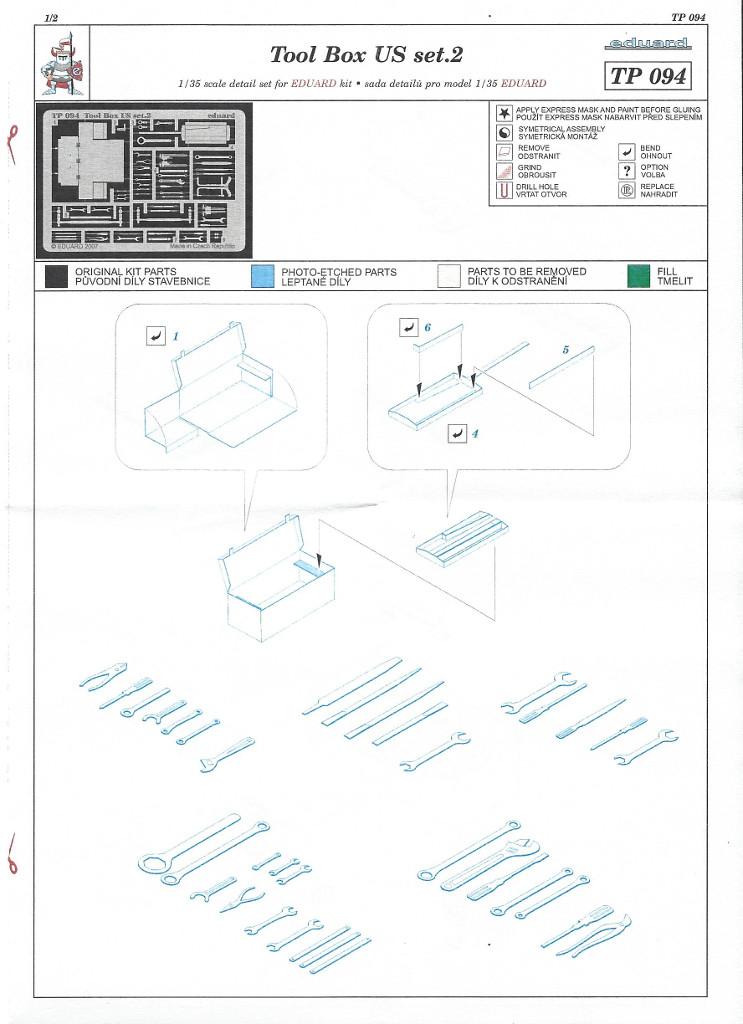 Anleitung01 Tool Box US set 2 1:35 Eduard (#TP094)