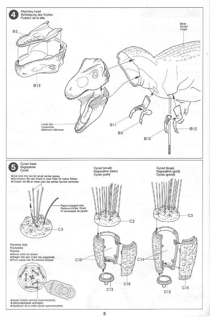 Anleitung05-679x1024 Tyrannosaurus Diorama Set Tamiya 1:35 #60102)