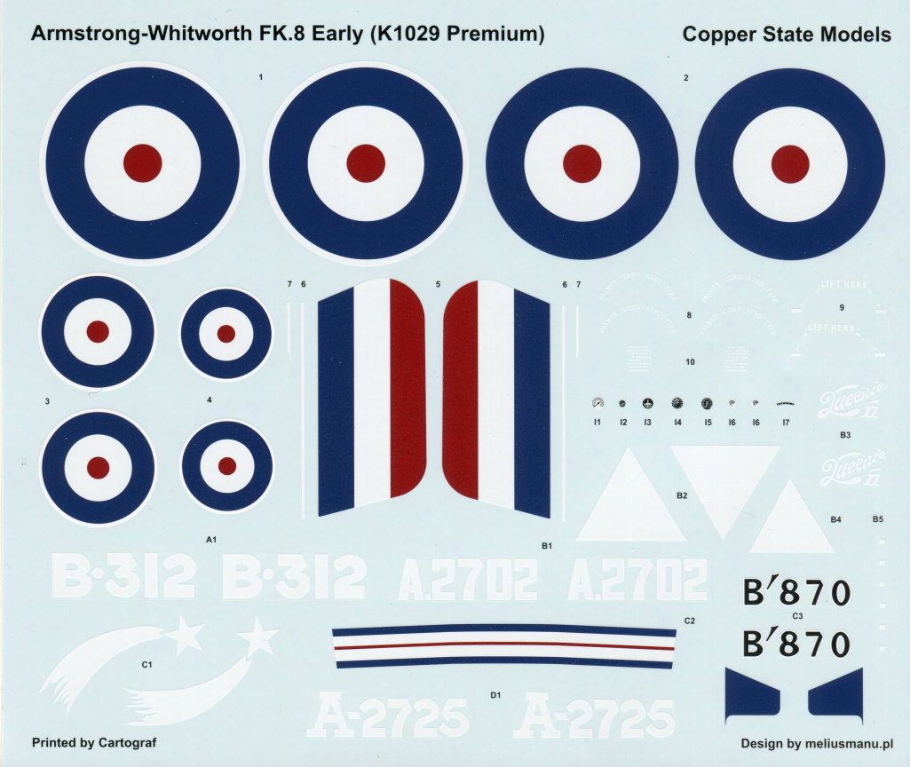 Armstrong-Whitworth_F.K.8_62 Armstrong-Whitworth F.K.8 early - Copper State Models 1/48