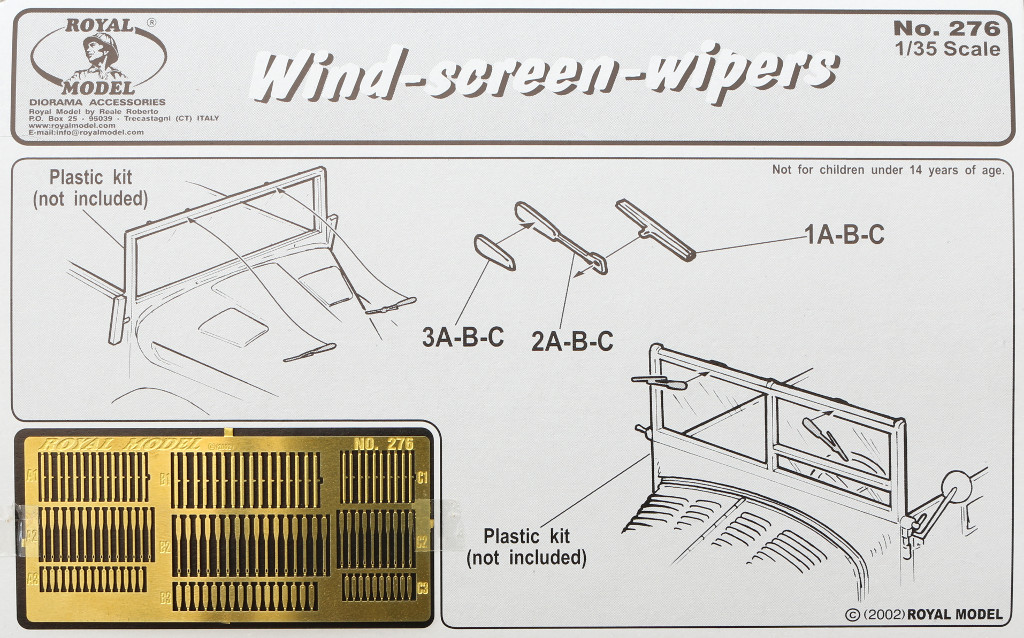 Boxart Wind-screen-wipers Royal Model 1:35 (#276)