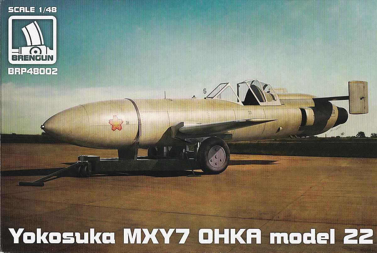 Brengun-BRP-48002-Ohka-Model-22-Deceklbild Yokosuka MXY-7 Ohka Model 22 im Mastab 1:48 von Brengun BRP 48002