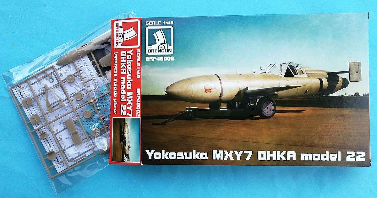 Brengun-BRP-48002-Ohka-Modell-22-1 Yokosuka MXY-7 Ohka Model 22 im Mastab 1:48 von Brengun BRP 48002