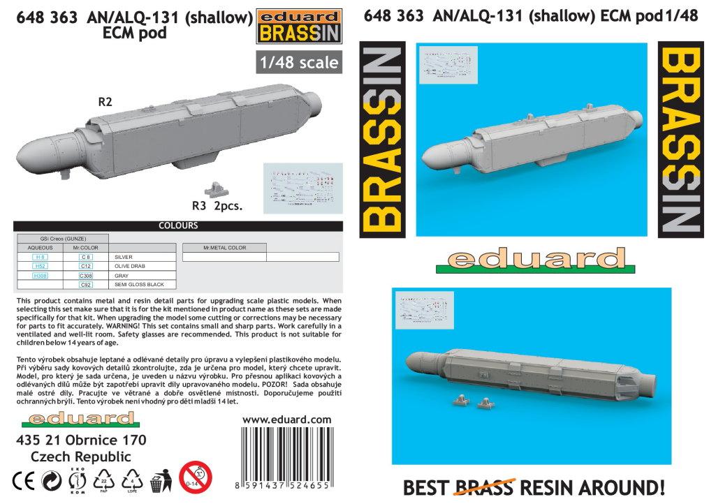 Eduard_AN_ALQ-131_09 AN/ALQ-131 ECM Pod - Eduard BRASSIN 1/48