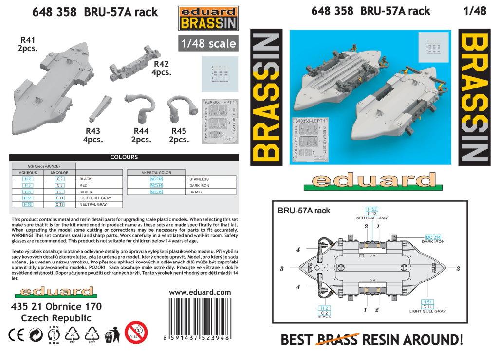 Eduard_BRU-57A_Rack_09 BRU-57A Rack - Eduard BRASSIN 1/48