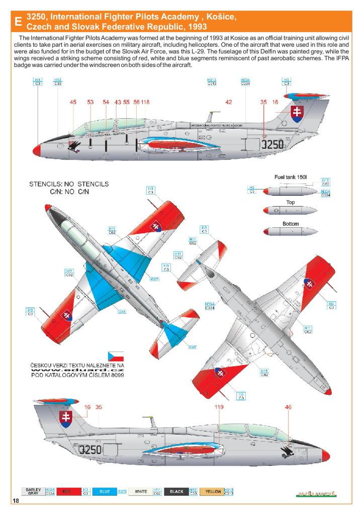 Eduard_L-29_Profipack_39 L-29 Delfin - Eduard ProfiPACK 1/48