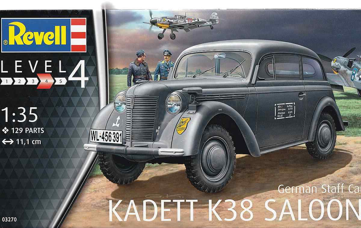 Revell-03270-Kadett-K38-Saloon-13 German Staff Car Kadett K 38 Saloon von Revell 03270