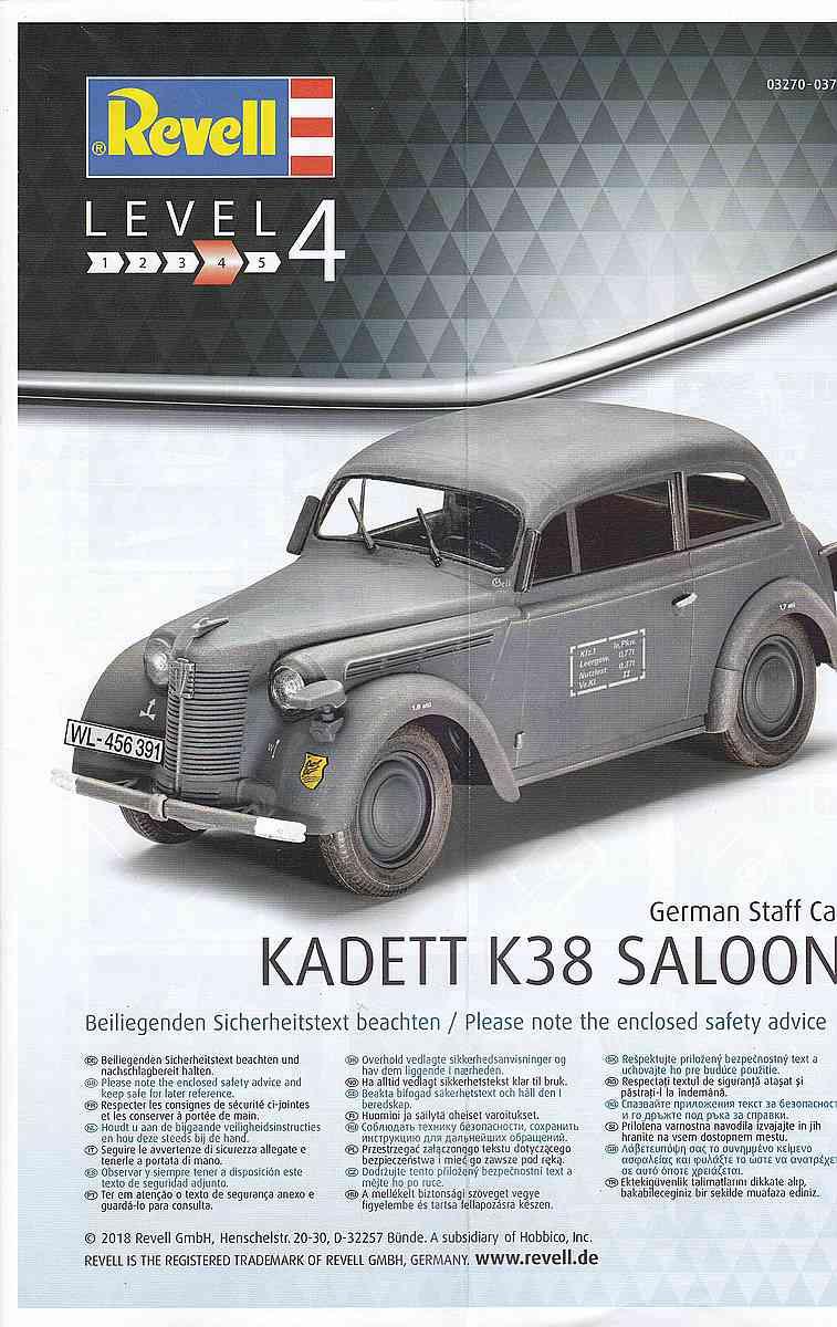 Revell-03270-Kadett-K38-Saloon-15 German Staff Car Kadett K 38 Saloon von Revell 03270