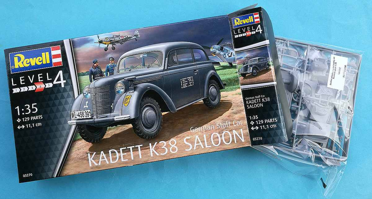 Revell-03270-Kadett-K38-Saloon-26 German Staff Car Kadett K 38 Saloon von Revell 03270