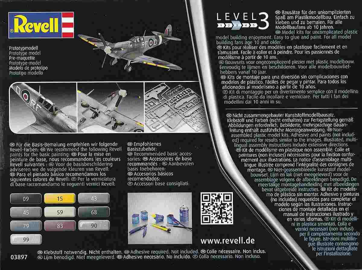 Revell-03897-Spitfire-Mk.-Vb-1 Spitfire Mk. Vb im Maßstab 1:72 von Revell 03897