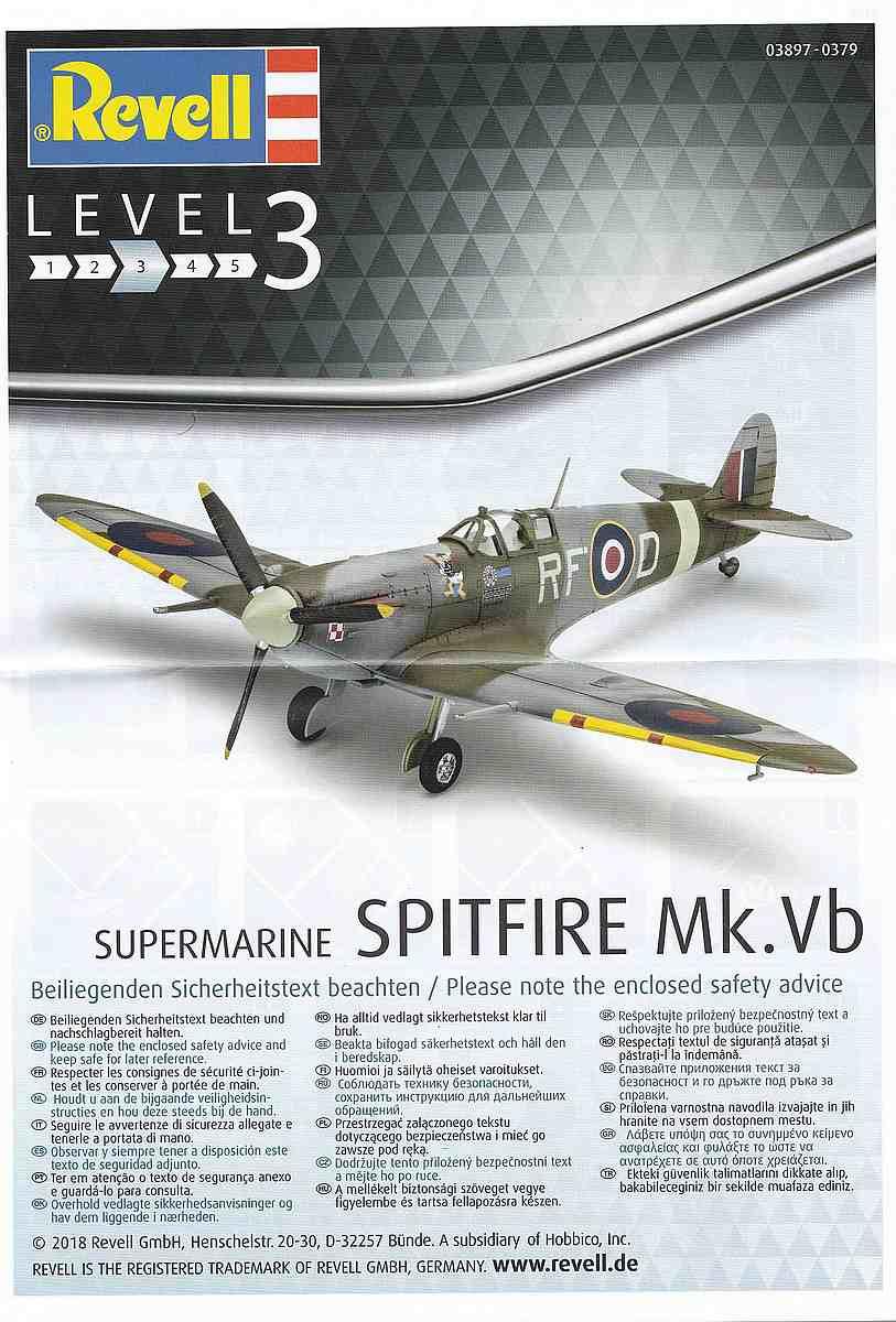 Revell-03897-Spitfire-Mk.-Vb-17 Spitfire Mk. Vb im Maßstab 1:72 von Revell 03897