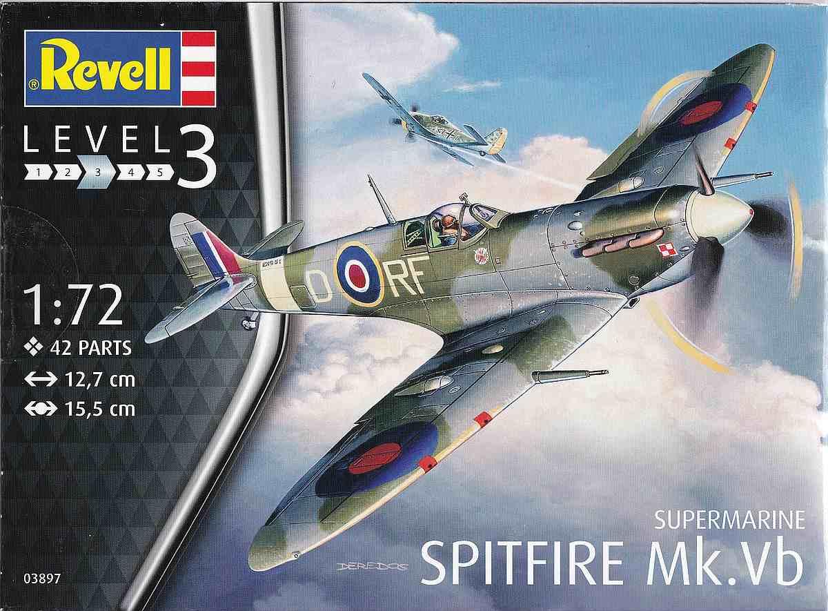 Revell-03897-Spitfire-Mk.-Vb-24 Spitfire Mk. Vb im Maßstab 1:72 von Revell 03897