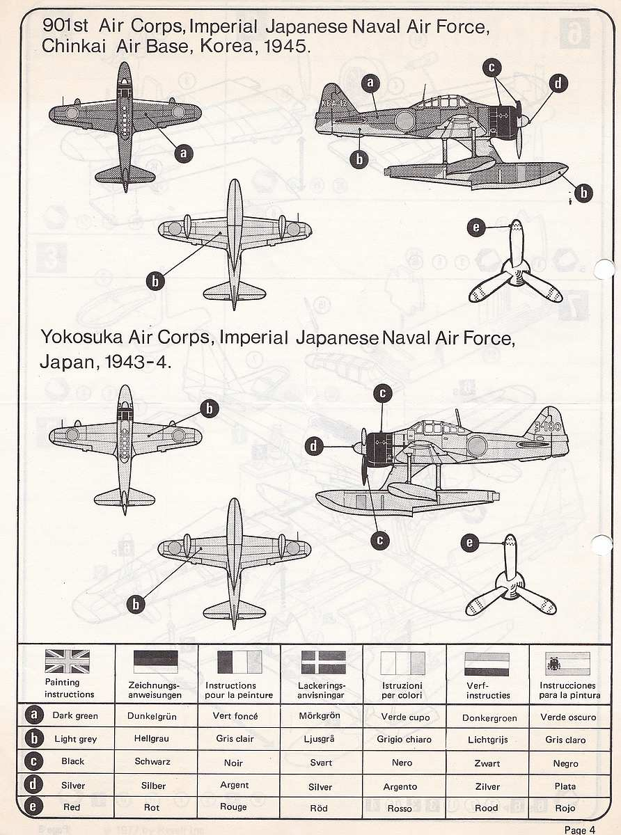 """Revell-H-98-Nakajima-A6M-2N-Rufe-14 Kit-Archäologie - Nakajima A6M2-N """"Rufe"""" in 1:72 von Revell H-98"""