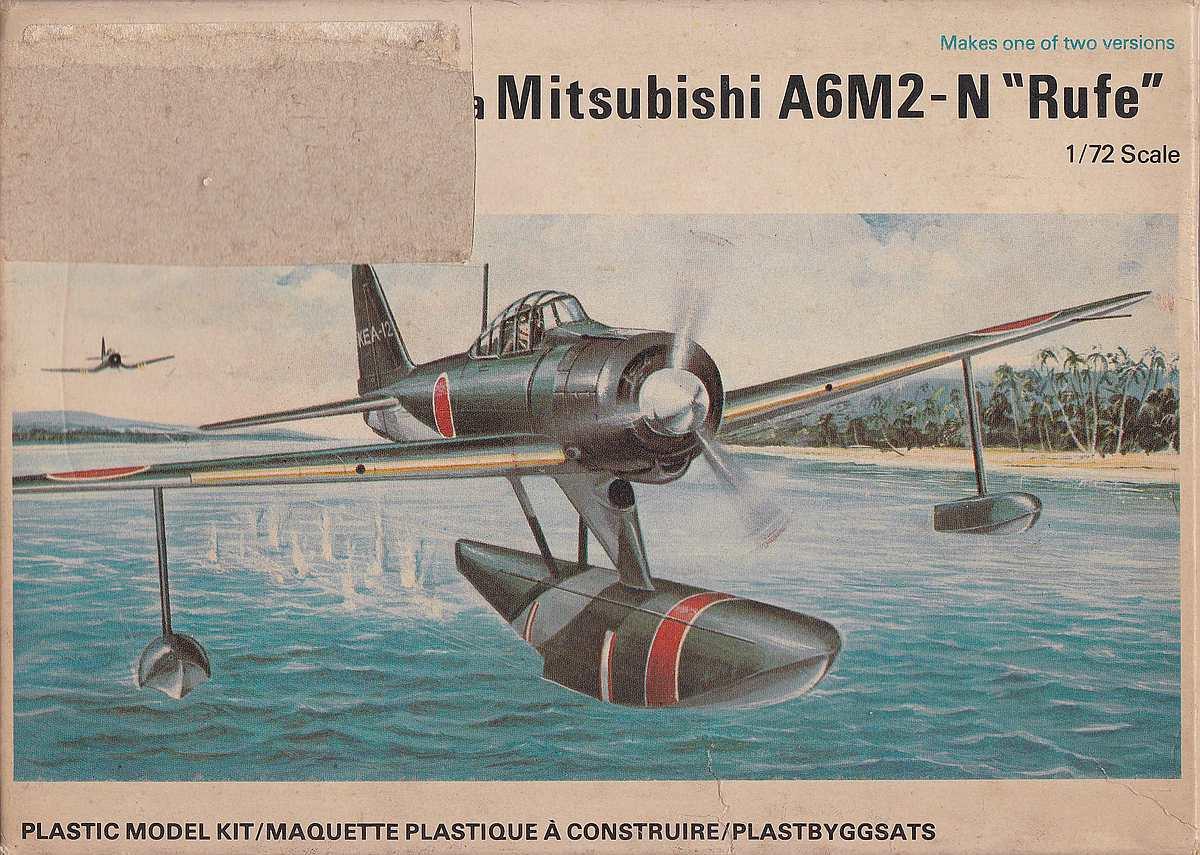 """Revell-H-98-Nakajima-A6M-2N-Rufe-18 Kit-Archäologie - Nakajima A6M2-N """"Rufe"""" in 1:72 von Revell H-98"""