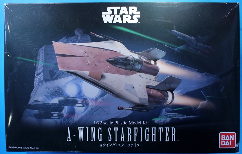 tiny_IMG_2781 Star Wars A-Wing Starfighter von Bandai in 1:72
