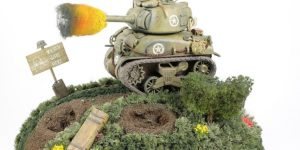 World War Toons Sherman U.S. Medium Tank M4A1 Meng Model (#WWT-002)