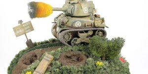 World War Toons Sherman U.S. Medium Tank M4A1 Meng Model (#WWT-002)