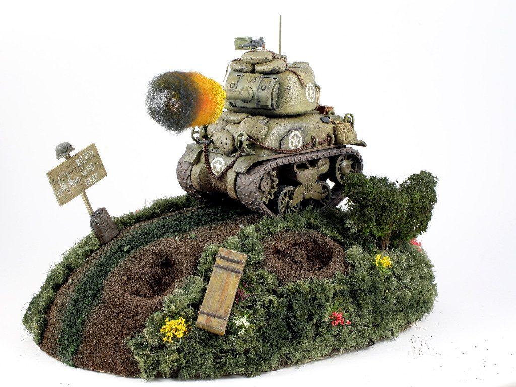 02-2-1024x768 World War Toons Sherman U.S. Medium Tank M4A1 Meng Model (#WWT-002)