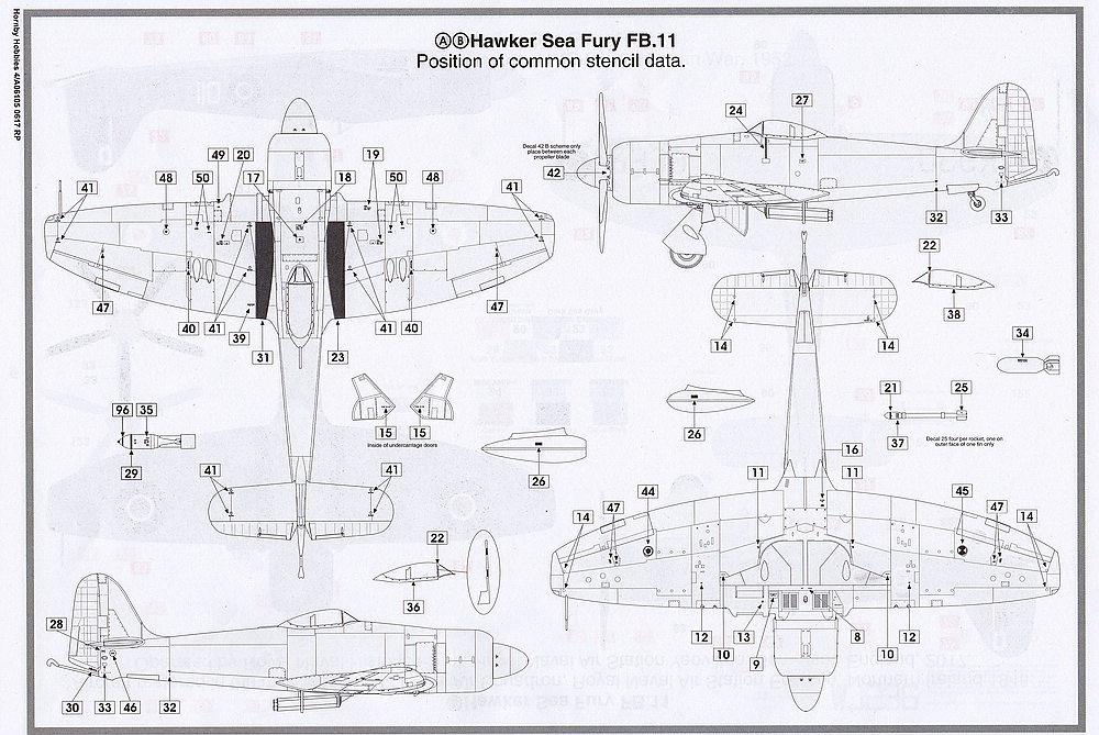 Airfix-A06105-Hawker-Sea-Fury-FB-5 Hawker Sea Fury FB.11 in 1:48 von Airfix A06105