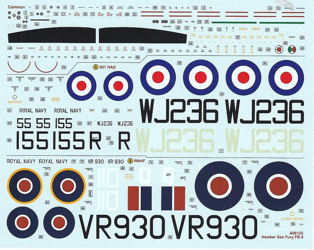 Airfix-A06105-Hawker-Sea-Fury-FB-59 Hawker Sea Fury FB.11 in 1:48 von Airfix A06105