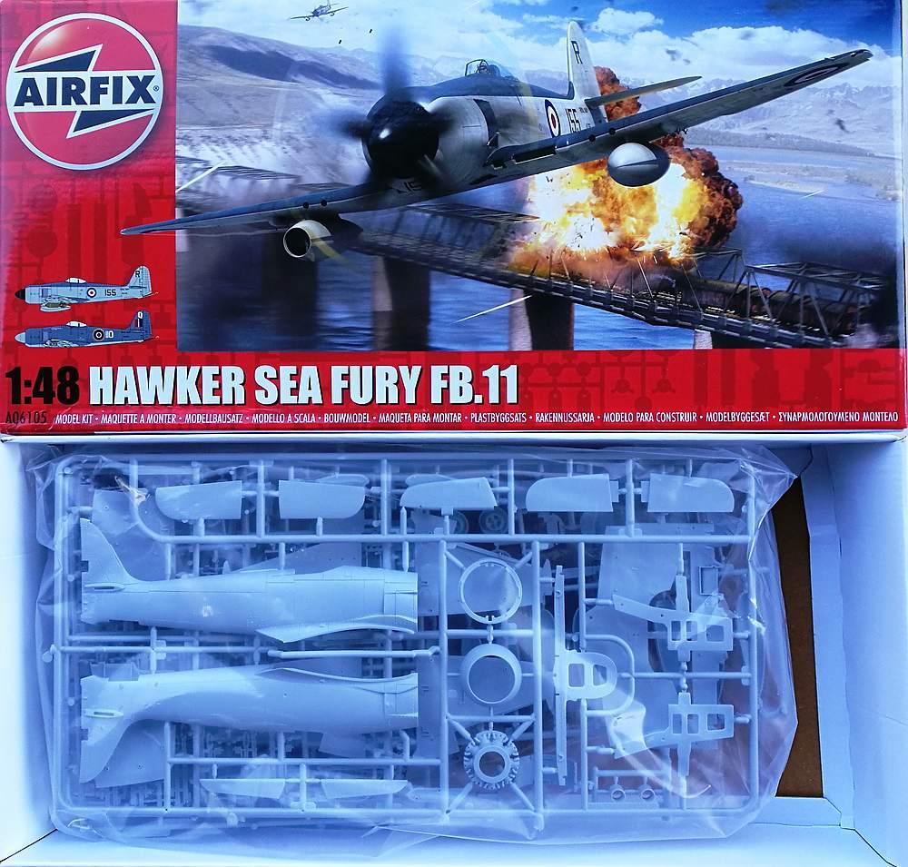 Airfix-A06105-Hawker-Sea-Fury-FB-6 Hawker Sea Fury FB.11 in 1:48 von Airfix A06105