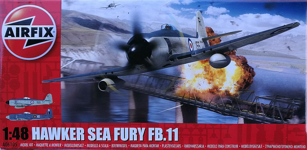 Airfix-A06105-Hawker-Sea-Fury-FB-7 Hawker Sea Fury FB.11 in 1:48 von Airfix A06105