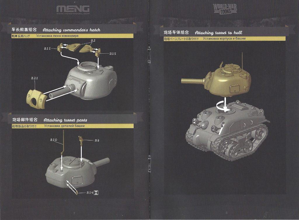 Anleitung-2-1024x752 World War Toons Sherman U.S. Medium Tank M4A1 Meng Model (#WWT-002)