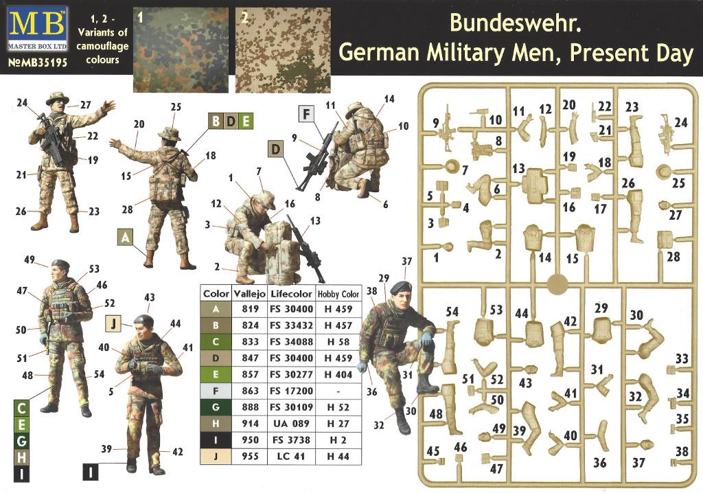 Anleitung Bundeswehr. German Military Men, Present Day 1:35 Master Box (#35195)