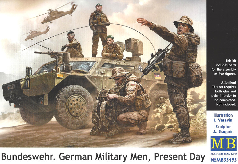 Boxart-1 Bundeswehr. German Military Men, Present Day 1:35 Master Box (#35195)